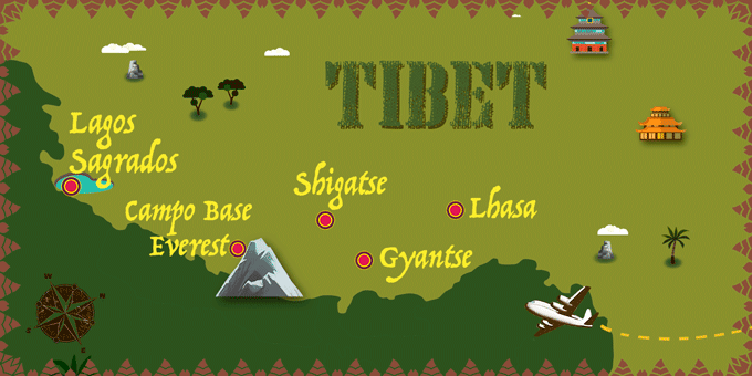 Tíbet - Mapa