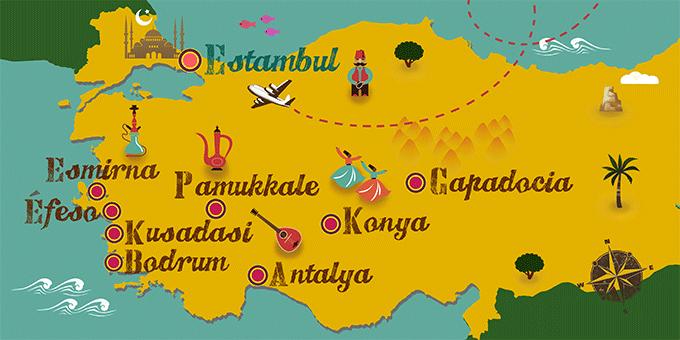 Turquía - Mapa