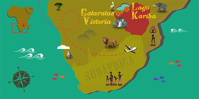 Zimbabwe - Mapa
