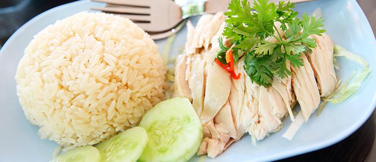 Arroz con pollo Hainanese