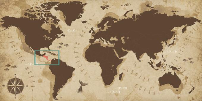América Central - Mapa