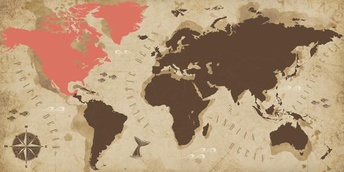 América del norte - Mapa