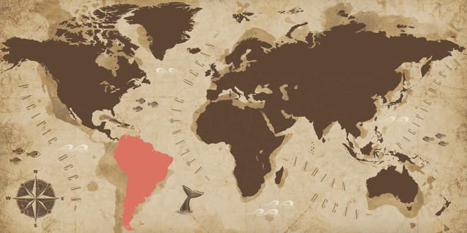 América del Sur - Mapa