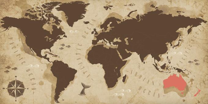 Australia y Nueva Zelanda - Mapa