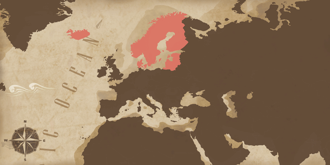 Escandinavia y Bálticos - Mapa