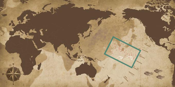 Islas del Pacífico - Mapa