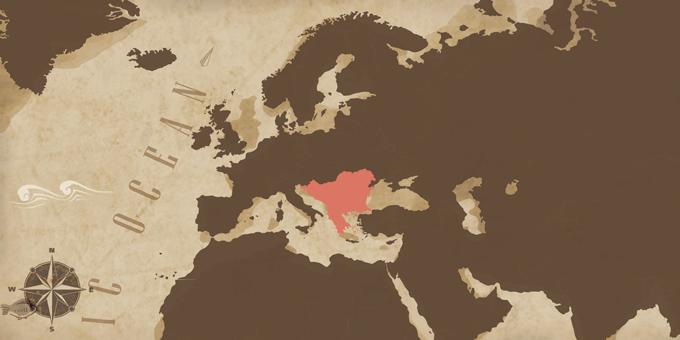 Los Balcanes - Mapa
