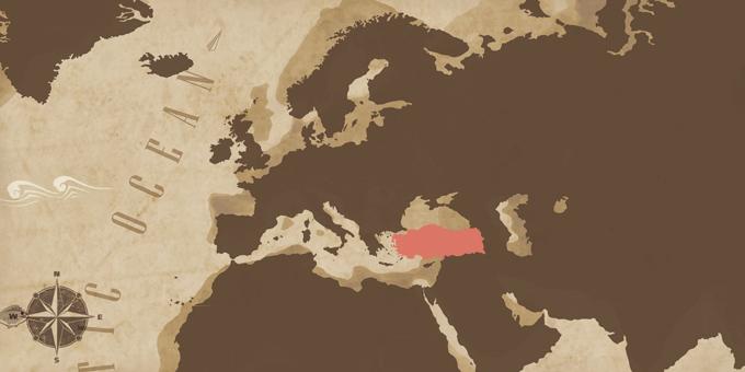Mediterráneo Oriental - Mapa