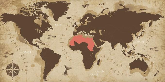 Norte de África - Mapa