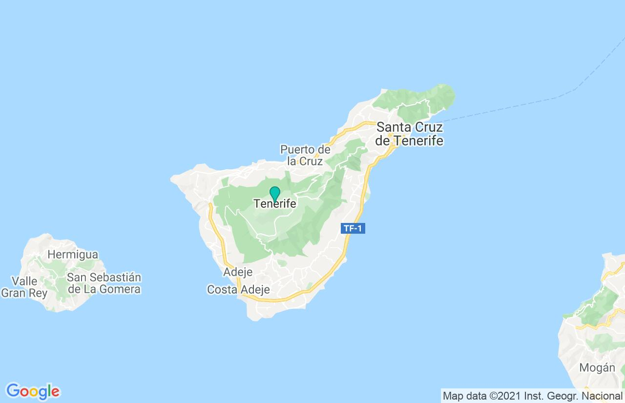 Map with itinerary in Spain